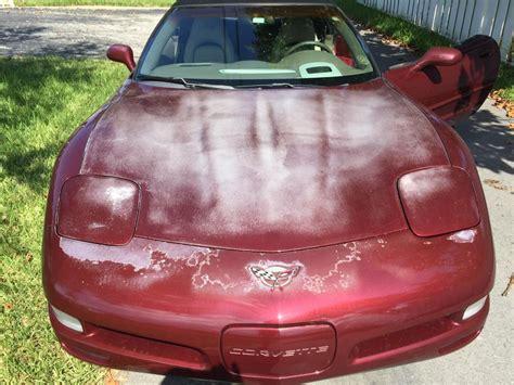 chevrolet corvette clear coat crackedpeeling
