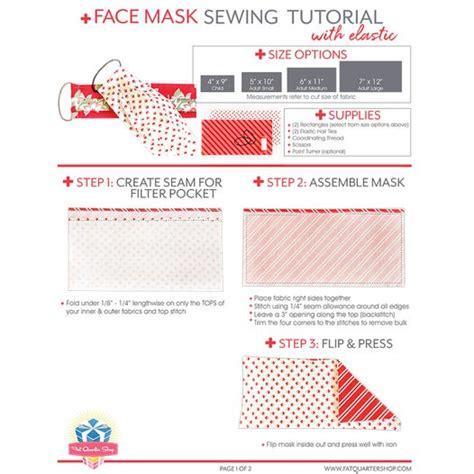 face mask  elastic   pattern fat quarter shop
