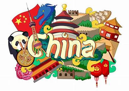 Culture China Doodle Architecture Showing Vector Illustration