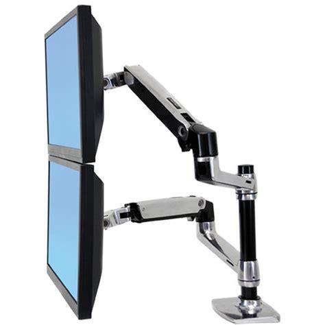 ergotron lx desk mount ergotron lx dual desk mount stacking arm 45 248 026 b h photo
