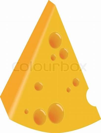 Cheese Piece Clip Clipart Vektor Formaggio Colourbox