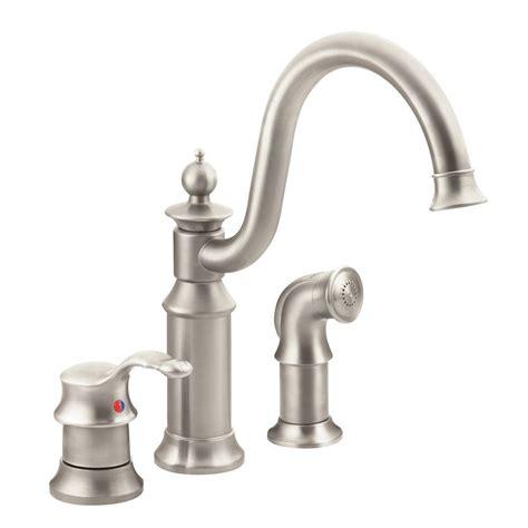 buying a kitchen faucet moen waterhill high arc single handle standard kitchen