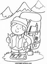 Montagne Coloriage Mountain Coloring Climber Imprimer Coloriages Enfants Dessin Colorier Printable Nounouduveron Leur Dessins Gratuitement Sheets Nature June sketch template