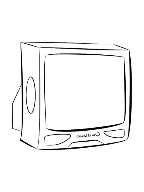 tv coloring pages    print