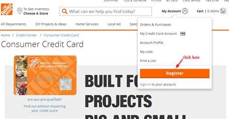 Home Depot Credit Card Login : Home Depot Credit Card Online Login