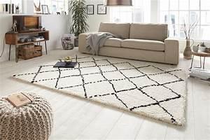 Teppich 160 X 230 : design velours hochflor teppich 160 x 230 cm hash creme schwarz hf 11 accessoires teppiche ~ Avissmed.com Haus und Dekorationen