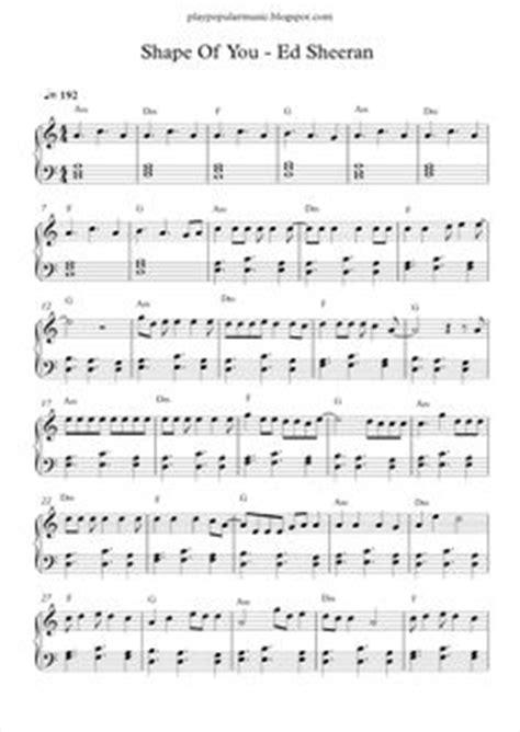 alan walker faded not angka ed sheeran shape of you free piano sheet piano sheets by margarita