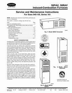 Carrier 58rav Instruction Manual