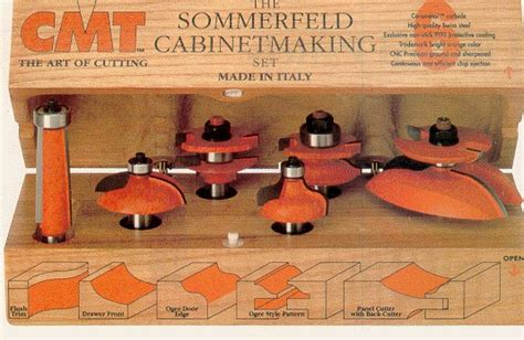 cmt cabinet making router bit set  mikes tools