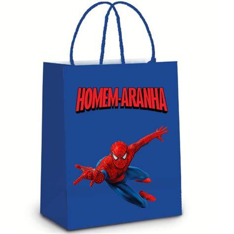 Sacola de Papel Homem aranha no Elo7 Brl Flex Festas