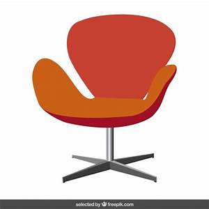 Red modern chair Vector | Free Download