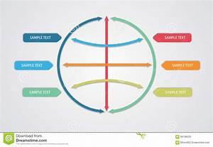 Vector  Editable Business Flow Diagram Template Stock