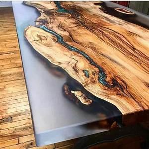Table En Bois Et Resine : comment r aliser une table rivi re avec de la r sine poxy ~ Dode.kayakingforconservation.com Idées de Décoration