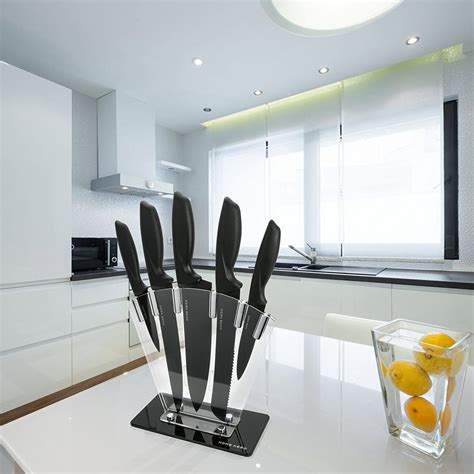 kitchen knife sets block stainless steel sharpener hqreview