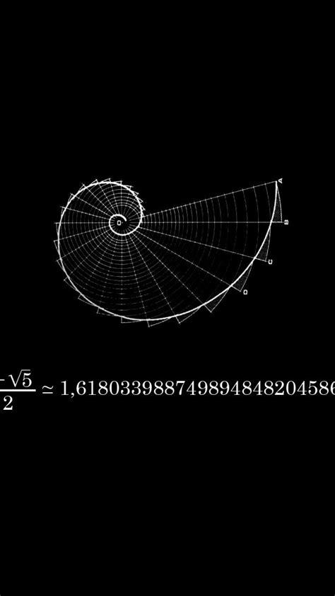 fibonacci black background mathematics physics wallpaper