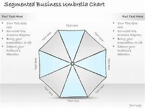 2502 Business Ppt Diagram Segmented Business Umbrella
