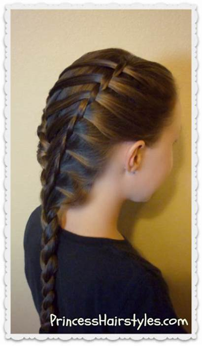 Braid Twist Waterfall Hairstyle Ladder Hairstyles French