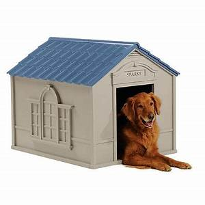 Suncast large deluxe plastic dog house for Dog house clearance