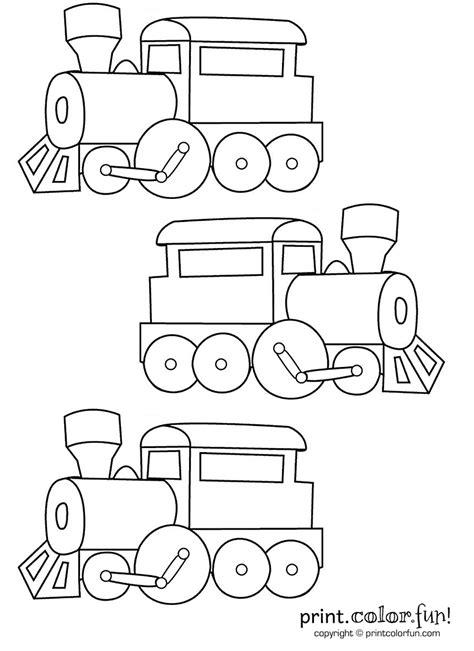 trains coloring page print color fun