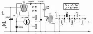 This 9v To 13 5kv Inverter Circuit High Voltage Source Is