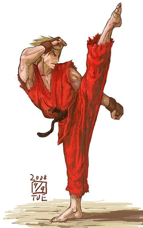 Ken Kicking Fighting In The Streets Street Fighter
