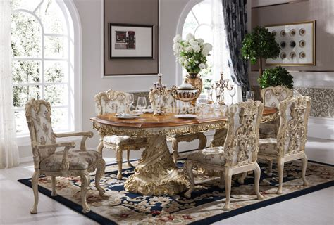 Standard Dining Room Table Size baroque antique style italian dining table 100 solid wood
