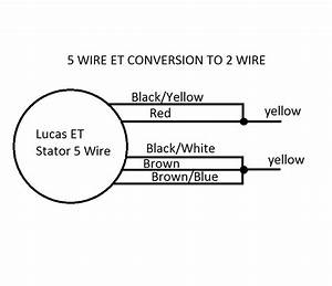 5 Wire Et Stator Conversion To 2 Wire With Solid State Regulator