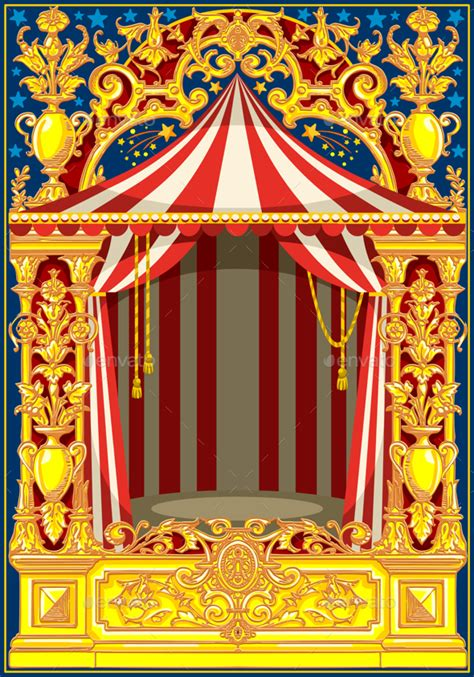 Google Plus Background Image Carnival Poster Vintage Circus Theme By Aurielaki Graphicriver