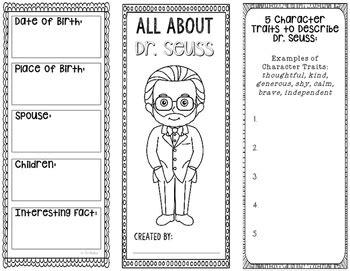 dr seuss famous author biography research project