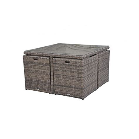 Cube Garden Furniture Set radeway 174 outdoor wicker dining set w cushions