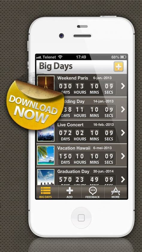 countdown app images pinterest big day countdown timer