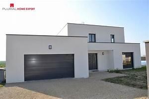 maison contemporaine riviere de corps proche de troyes With charming photo maison toit plat 5 photo de maison neuve toit plat