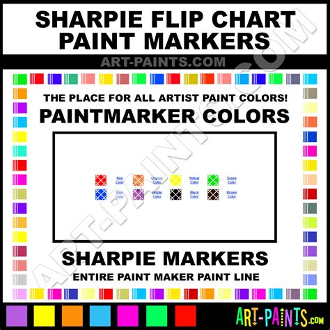 sharpie flip chart paintmarker marking pen colors