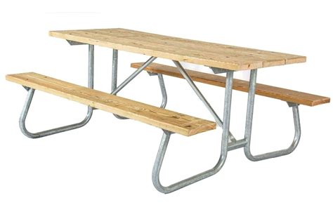 steel picnic table frame 8 ft southern yellow pine wooden picnic table with welded
