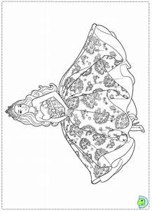 Barbie Princess Coloring page for girls – Dresses | For ...