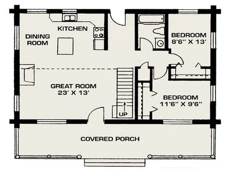 Small Log House Floor Plans Small Log Cabin Living, Small