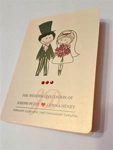 cute cartoon couple wedding invitation card illustration With wedding invitation cards rustenburg
