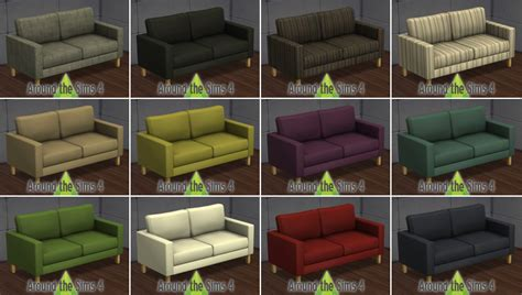 canapé 3 4 places around the sims 4 custom content objects