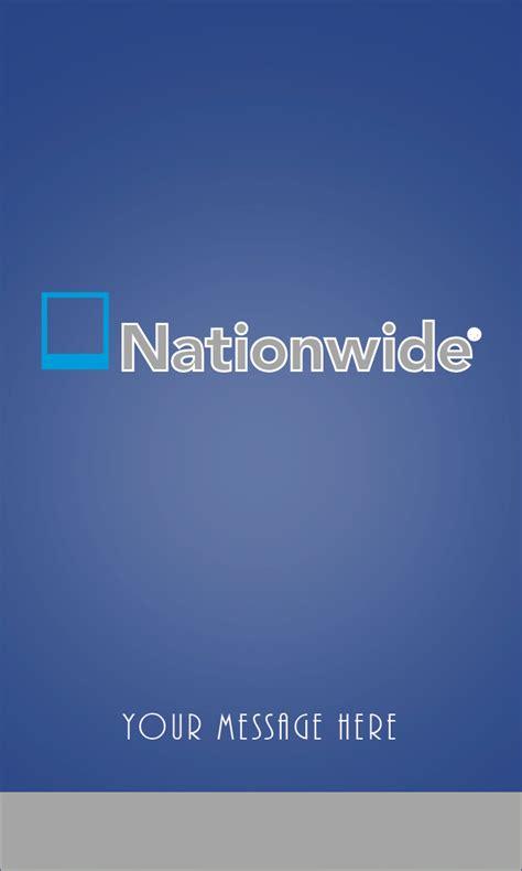 nationwide insurance vertical blue business card design