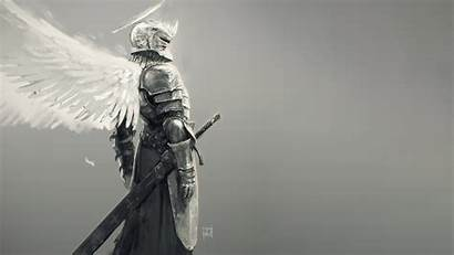 Knight Sword Armor Fantasy Angel Wings Wallpapers