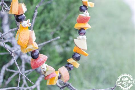 fruit garland bird feeder