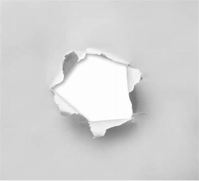 Hole Paper Torn Through Round Papel Rasgado