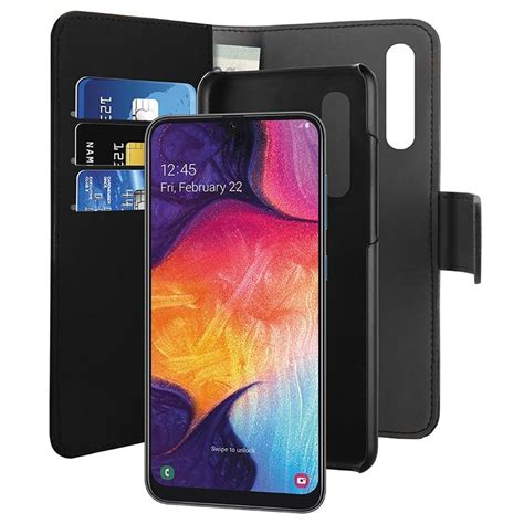Puro 2-in-1 Samsung Galaxy A50 Magnetic Wallet Case - Black