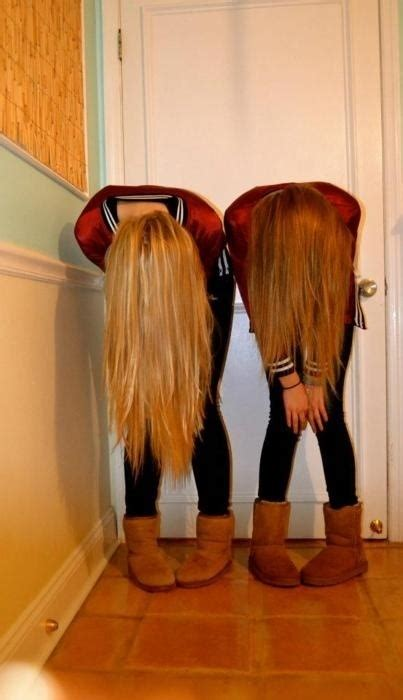 Best Friends with Blond Hair and Brown