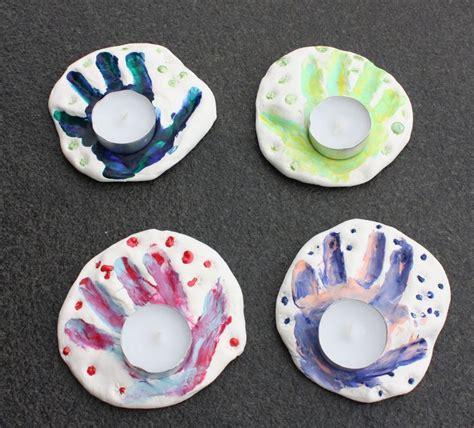 salzteig kindergarten ideen salzteig handabdruck teelichthalter basteln mit kindern salzteig basteln und salzteig