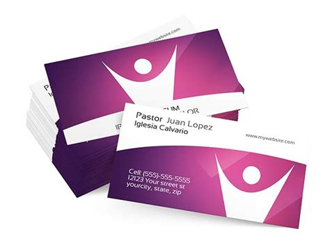 christian business cards psd images church business