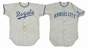 lot detail 1969 1972 kansas city royals pair of early With royals jersey with gold lettering