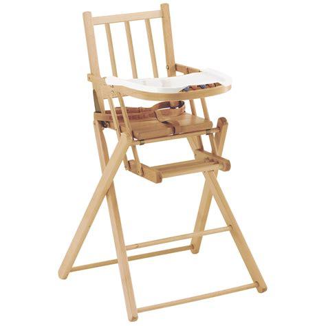 chaise haute en bois bébé chaise pliante de combelle chaises hautes fixes