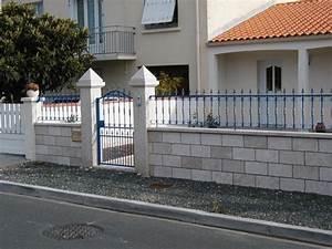 Muret De Cloture : cl ture sarl mesci poitiers neuville de poitou 86 ~ Melissatoandfro.com Idées de Décoration