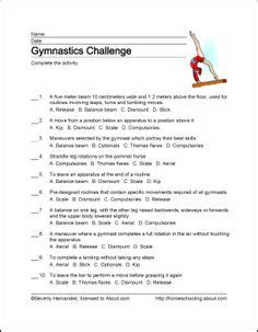 gymnastics wordsearch vocabulary crossword and more 897 | 1210870f4473f4a71688b6e3e769a515 gymnastics birthday word search